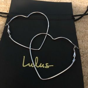 Lulus heart earrings